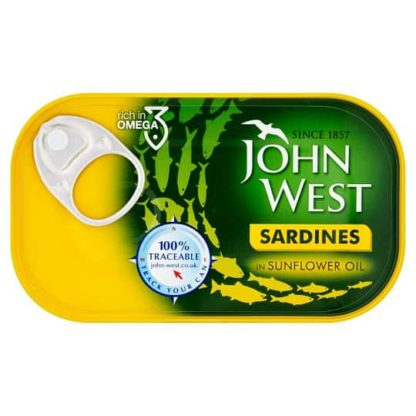 ohn West Sardines Sunflower Oil 120Gm