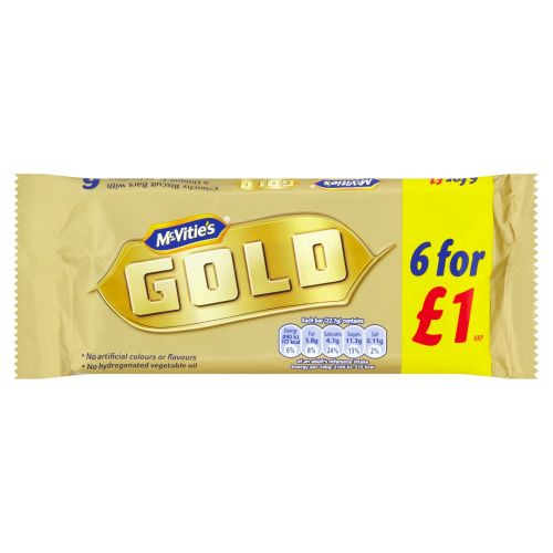 Mcvities Gold Chocolate Biscuit 6 Pack 126g