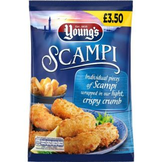 Youngs Scampi In Crispy Crumbs 240G